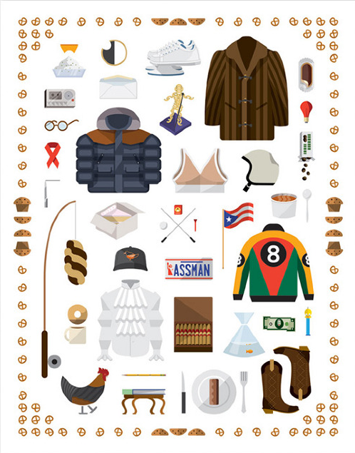 These pixels are making me thirsty A collection of illustrated props from the iconic 90's television series, Seinfeld by Nathan Manire. Designer and Illustrator from Michigan now living in New york.