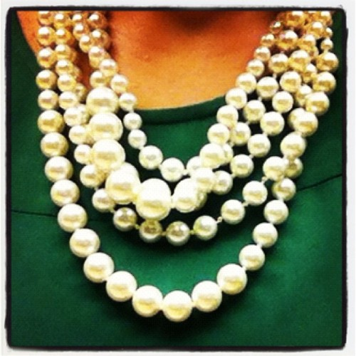 If diamonds are a girl's best friend the what does that make pearls? #OOTD #jcrew #pearls #necklace #OfficeChic #FashionDiaries #WhatIWore #Fashion #Style http://www.chloeandisabel.com/boutique/elizabethshamooni