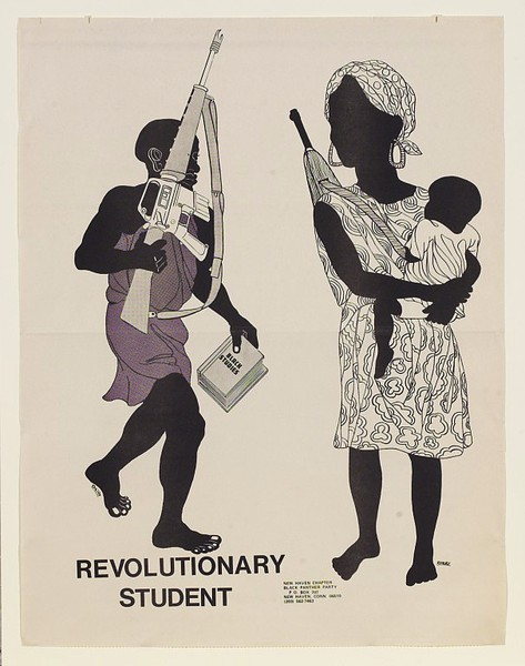 """revolutionary student"" by emory douglas (1970)"