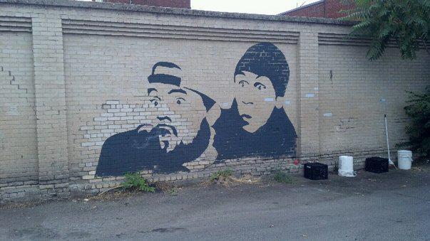 missnikijean:  Jay and Silent Bob downtown Boise :D