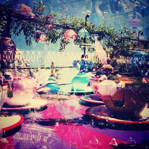 vision-tunnels:  #teacup #doubleexposure #disneyland (Taken with Instagram at Mad Tea Party)