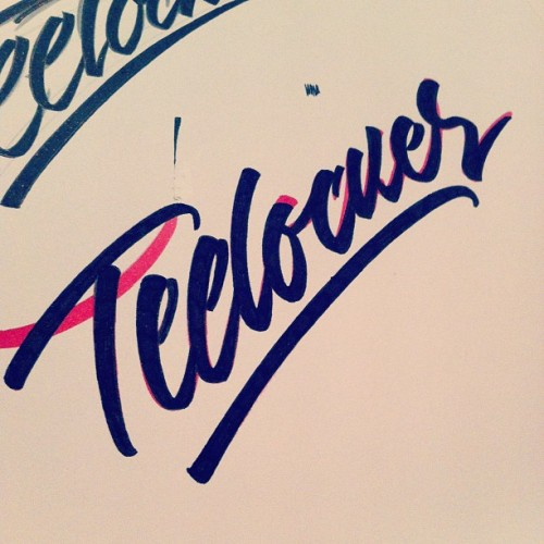 "T-shirt lettering for ""Teelocker"", Hong Kong"