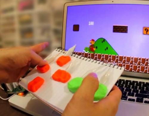 (via Makey Makey, A Kit for Connecting Everyday Objects to a Computer)