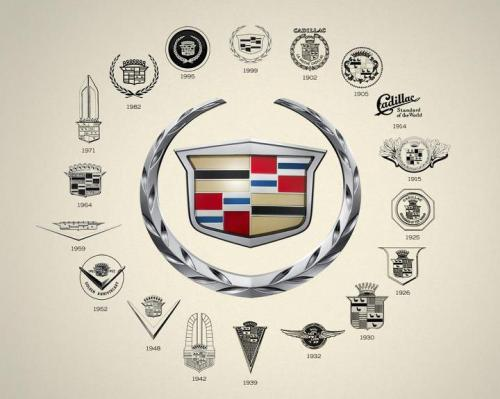 creatimes:  Cadillac logos of the last 100 years