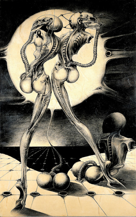 Atomic Children by HR Giger, 1968