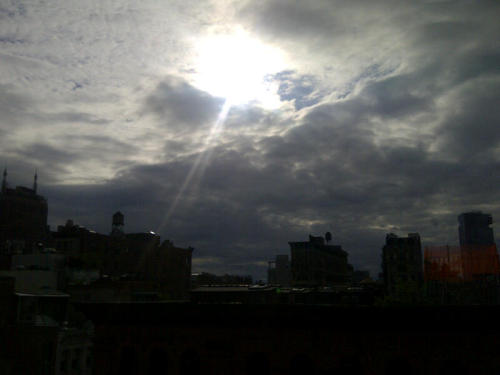 Venus is currently moving past the sun. SoHo.