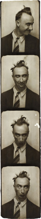 "© Yves Tanguy, ca. 1929, Selfportrait in a Photobooth ""I believe there is little to gain by exchanging opinions with other artists concerning either the ideology of art or technical methods."" (Yves Tanguy) » find more photos of famous people here «"