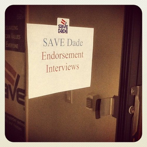 The endorsement panels are in progress.  This is one of the important functions of @SAVEDade - identifying #proequality candidates who will advocate for the #LGBT community.  Learn more about our work and get involved at www.savedade.org (Taken with Instagram at SAVE Dade)