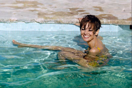 Audrey Hepburn takes a break during the filming of Two For the Road, photographed by Terry O'Neill in 1967