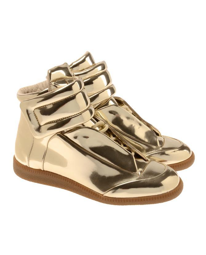 MAISON MARTIN MARGIELA METALLIC HIGH-TOPS