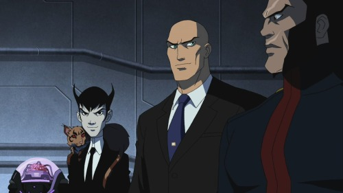 From left to right, Brain, Klarion, Lex Luther & Vandal Savage.