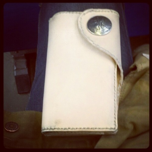 #handmade wallet courtesy of my buddy Glenn cooper (Taken with instagram)