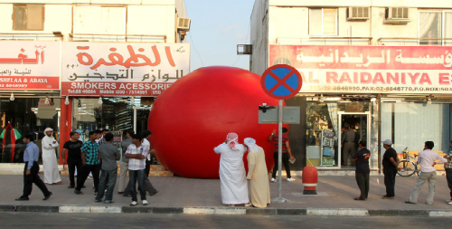 """There's red balls…EVERYWHERE!!""From: Red Balls In Abu DhabiIn: Art & DesignOn: OriginofCool.com"