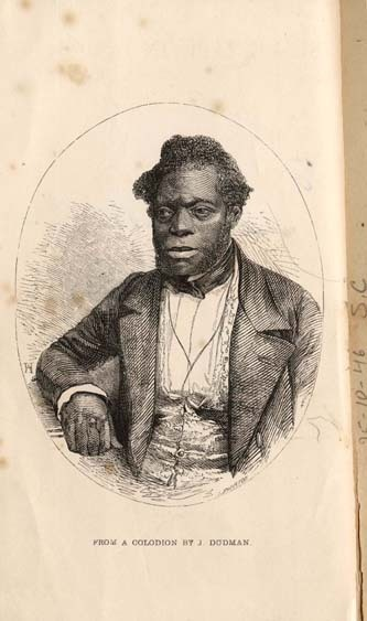 "blunthought:  ""When he escaped to England in 1847, the former slave who had been known as ""Fed"" claimed John Brown as his full name. Brown was a compact dark-skinned man in his forties, with strong features and a dense thatch of black hair that sprang from his crown at an angle, though it had been brushed to either side of an indeterminate part. His body bore the stigmata of enslavement: his hands were latticed with ropy scars and the black iris of his bulging right eye lay off center, perpetually looking inward. For all this, the worn collodion image gracing his memoirs shows a man of estimable appearance in a sober woolen suit and brocade waistcoat. He is neither smiling nor frowning, but exudes a satisfied air of quiet dignity—a survivor. But of what? In 1855, Brown described his enslavement to L. A. Chamerovzow, secretary of the British and Foreign Anti-Slavery Society, which published his memoirs as Slave Life in Georgia.  Among Brown's most remarkable recollections was the period he spent with Dr. Thomas Hamilton of Clinton, Georgia, during the 1820's and early 1830's. Hamilton was not only a widely respected physician but the very epitome of a southern gentleman. He was born into wealth in Washington, Georgia, graduated from the University of Pennsylvania School of Medicine, and became a wealthy plantation owner, physician, politician, and trustee of the Medical Academy of Georgia. But Hamilton had another face. Brown Recalls how he fell into the doctor's hands when his master, a man named Stevens, fell ill. I do not know what his malady was. It must have been serious, for they called in to treat him one Doctor Hamilton who lived in Jones County, and who had a great name. He cured Stevens, who was so pleased, that he told the Doctor to ask him any favour, and it should be granted. Now it so happened that this Doctor Hamilton had been trying a great number of experiments, fir the purpose of finding out the best remedies for sun-stroke. I was, it seems, a strong and likely subject to be experimented upon, and the Doctor having fixed the thing in his mind, asked Stevens to lend me to him. This he did at once, never caring to inquire what was going to be done with me. I myself  did not know. Even if I had been made aware of the nature of the trials I was about to undergo, I could not have helped myself. There was nothing for it but passive resignation, and I gave myself up in ignorance and much fear. Hamilton had a deep pit dug, and built a fire in it that he damped so that only the burning embers remained; these were retained until the doctor, using a thermometer, ascertained that the pit was sufficiently hot. He then made Brown sit naked on a stool in the pit and covered the opening with a wet blanket to retain the heat. Only Brown's head was exposed while temperatures routinely exceeded one hundred degrees. Hamilton then administered his various heat remedies until, Brown recalls ""though I tried hard to keep up against its effects, in about half an hour I fainted, I was then lifted out and revived, the Doctor taking note of the degrees of heat when I left the pit.""  After each day's work in the fields, Brown was given some nostrum and made to repeat the ordeal. But after all this ""scientific"" effort, Hamilton resorted to chicanery.  He [Hamilton] found that cayenne-pepper tea accomplished his object; and a very nice thing he made of it. As soon as he got back home, he advertised that he had discovered a remedy for sun-stroke. It consisted of pills which were to be dissolved in cayenne-pepper tea without which, he said, the pills would not produce any effect, Nor do I see how they should have done so, for they were only made of common flour. However he succeeded in getting them into general use, and as he asked a good price, he soon realized a large fortune. After a few days' rest, Brown was subjected to a new set of experiments, for which he was bled every other day. But still worse was to come: ""He set to work to ascertain how deep my black skin went. Thus he did by applying blisters to my hands, legs and feet, which bear the scars to this day. He used to blister me at intervals of about two weeks. He also tried other experiments upon me, which I cannot dwell upon.""  After Brown's matter-of-fact account of being poached to the point of fainting and of his repeated burned and flayed skin, one wonders what other experimental horrors he ""cannot dwell upon."" When he could bear the surgical torture no longer, Brown fled to England.""  