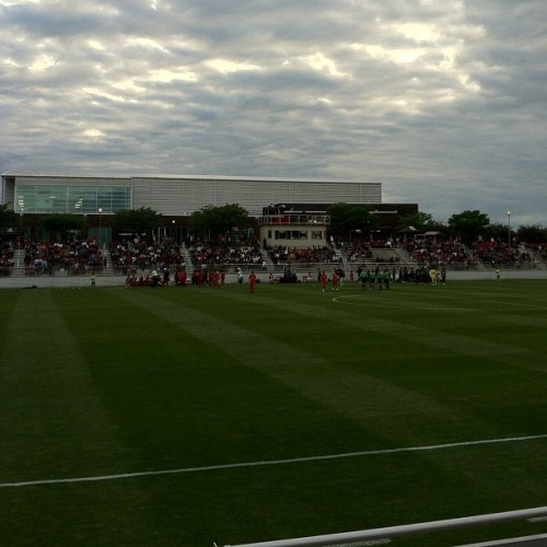 View from the stands. (Taken with instagram)