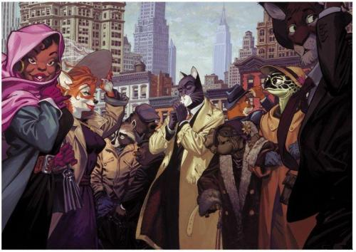 I would end a life to obtain this poster. Blacksad is so good, can't wait for A Silent Hell