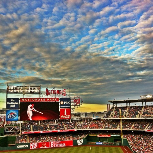 My view in Nat's Park. (Taken with Instagram at The Nationals baseball field D.C.)
