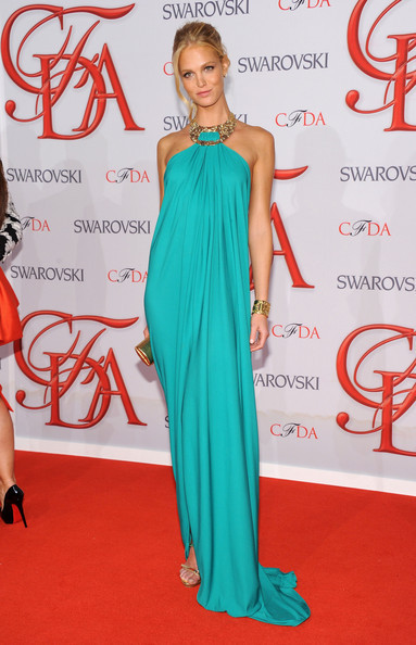 hollywood-fashion:  Erin Heatherton in Michael Kors Resort at the 2012 CFDA Fashion Awards on June 4th, 2012
