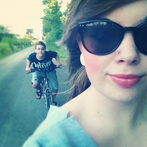 Bike ride :) #workout #summer #bikes #boyfriend  (Taken with instagram)