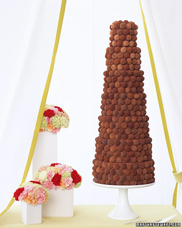 truffles wedding cake