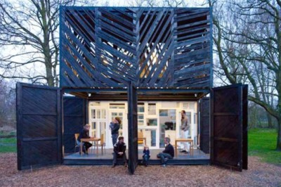(via Noorderparkbar is a Coffee Shack Made From Second Hand Materials in Amsterdam | Inhabitat - Sustainable Design Innovation, Eco Architecture, Green Building)