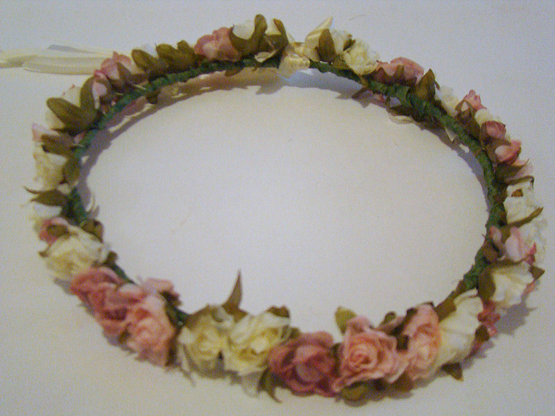 flower crown for sale <3 https://www.etsy.com/listing/101474099/pastel-flower-headband-with-cream-ribbon