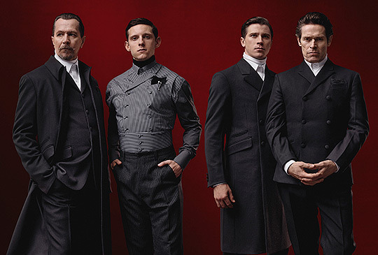 The supremely epic Prada menswear campaign for the Fall/Winter 2012-2013 season featuring distinguished actors such as Garrett Hedlund, Jamie Bell, Willem Dafoe, and Gary Oldman. Via Highsnobiety.