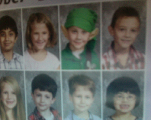 This kid in elementary school cosplayed as Link on Picture Day. My hero.