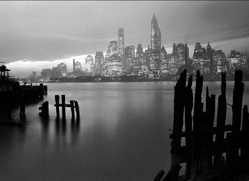 Manhattan Skyline, 1946 by Fred Stein