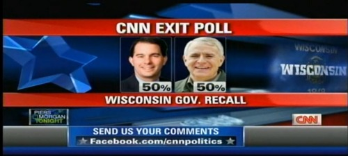 brosephstalin:  shortformblog:  CNN exit poll: Fifty-fifty. Wowza. Watch here.  gulp  UGHHH