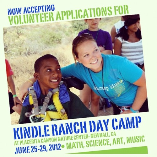 Friends, we could use some help… My Camp Kindle family is in need of more volunteers to work a day camp in Valencia for children with special needs!!! Camp begins Mon, June 25th and ends Fri, June 29th, from 8am-4pm each day… If you're interested please please PLEASE let me know! #autism #ADHD #blind #tourettes #cancer #counselors #assistants #childreninneed (Taken with instagram)