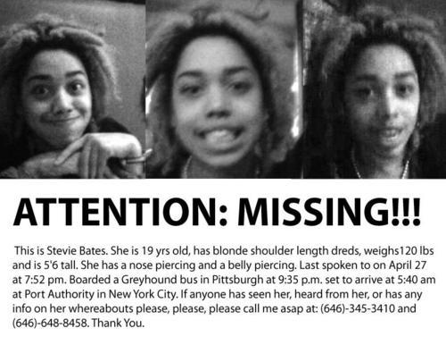 blackandmissing:  Still Missing: Stevie Bates #NY Click through picture to read more about the case. Reblog!