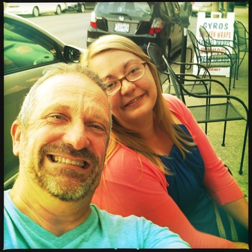 Me and my secretary after my birthday dinner. (Taken with Instagram at Coffee Zone)