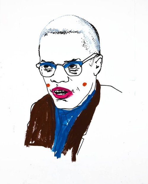 Glenn Ligon Untitled (Malcolm X), 2008 Acrylic vinyl-based paint and graphite on paper mounted on fiberboard 132 x 107 inches