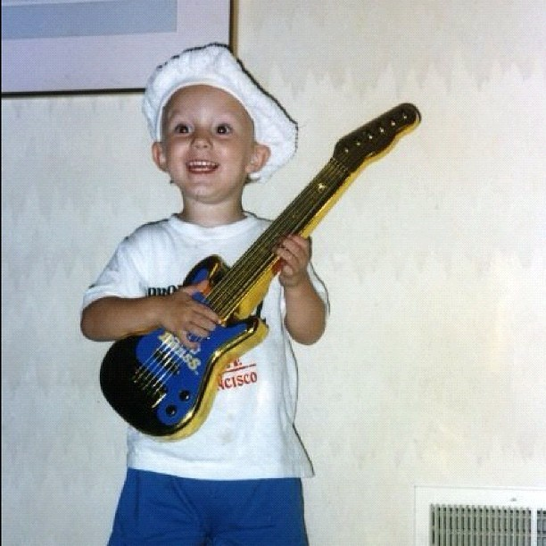 I was even a musician as a baby (plus, check out that chef hat!) #me #baby #music  (Taken with instagram)