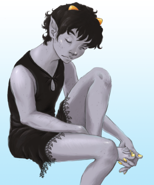 impossiblegeometry:  ==> Your name is KARKAT VANTAS and sometimes you wear DRESSES.