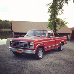 My new '84 F-150  (Taken with Instagram at Lower Saranac Lake)