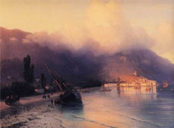 blabbernsmoke:  Ivan Aivazovsky - View of Yalta 1867click painting for more information on the artist