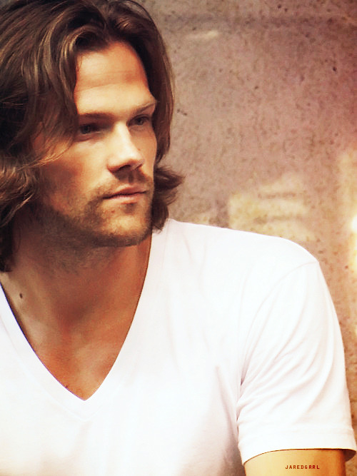 "For me jaredgrrl's tumblr is like the mecca of Jared homage. Her graphics are just breathtaking and her subject? Unparalleled. I've now had the privilege of meeting Jared at two cons, Toronto and Jus In Bello where I got to talk to him in his Meet and Greets. People who have watched the show as casual fans and don't follow the J's careers in particular don't quite grasp what it is about Jared that draws people in. I took a friend who claimed herself to be a Dean girl (and she still is) and she met Jared face to face in an autograph session. She assumed that my love for Sam (I have just as much love for Dean too but Sam has always had a special spot in my heart) was what prompted me to feel a stronger pull towards Jared than Jensen. Jared as Sam Winchester on TV is an attractive and appealing character - often outshined in the aesthetics department by Dean partly because of the way the characters are written and partly because Jensen is considered the more all round classically handsome guy, and he totally is, very perfectly handsome. Jared's looks are a little more unusual, not quite the conventional type of handsome. He has the distinctive eye shape and a prominent kind of facial structure with high cheek bones. Also Sam's hair is particularly styled, unusually long and floppy and the makeup applied is significantly altering. My friend met Jared face to face at Jus In Bello and came out with a revelation and confession - up close, in his natural state, no styled hair or make up on, Jared Padalecki is one absolutely stunningly breathtakingly attractive man. She didn't quite see what I was on about until that moment when she looked into his face. When she did I have to admit - one of the many highlights of that con for me. But looks alone do not a man make. Not for me anyway. Jared's appeal lies so much intertwined with who he is, his personality, his attitude towards life, his gregarious and generous nature that is never, not once a front that he puts on, you cannot help but feel drawn to this man because his very presence makes you smile one of the biggest smiles that has ever graced your face and much like he has mentioned - if your body is happy and your face is smiling well then it follows mentally - your entire cerebral and visceral being is happy. Jared has the same affect on people that the happy pills prescribed by psychologists do. He is a catalyst for emotional wellbeing and that is a rare, RARE characteristic in a human being. Jared is so refreshingly open as well - let me clarify, I don't know Jared and I never will, just because I've met him and had conversations with him this does not mean I know him. I don't have the right to know him same as he doesn't have the right to know me - we don't move in the same circles, our lives' situations would not create that scenario naturally. I could rattle off probably dozens of little facts and anecdotes about him that I've picked up over the years - but in no way would I ever claim that I know him. And whilst Jared is definitely more open and giving of his personal life than Jensen it bugs me no end when people feel that this is him giving permission for people to feel entitled about his private life. What we see of Jared at cons and in interviews is definitely him being honest and frank, not any kind of face or front he is putting on but we still don't know him on any kind of personal level and I'm grateful for that. It's a professional and dignified way to conduct himself. Good on him for not curtailing to the demands of obnoxious fans to see photos of Thomas. It's sad that one got leaked and I felt for him, this is his son and from what we've seen of Jared I probably cannot even begin to fathom that level of protectiveness he feels towards his son's privacy. I have the utmost respect for all of his decisions - finding a balance in this industry is a tricky process and I think Jared has walked that line remarkably well and yet still shares so much with his fans that we should be feeling grateful. This is his job and he doesn't have to share what he has with us but he chooses to do so, not because he believes he's ""throwing us a bone"" but because it is simply in his nature to be generous and sharing and open. It's this natural effusiveness he has, plus his very clear moral standards, his natural curiosity, his quick intelligence, his fascination for learning, for new places and absorbing new information like a sponge, his affinity for reading, his sense of humour and his very VERY obvious compassion and empathy for others that makes Jared who he is and it's incredibly hard to not feel even a little bit drawn to it like a flower folding out for the sun. He has this warmth and when you are near him it feels like you are ensconced in it. When you ask Jared a question (irrespective of how ridiculous or repetitive or incomprehensible it might seem) he unfailingly gives you and that question his absolutely full attention and efforts, to give an answer that not only shows the questioner full respect but that also articulates those thousand miles a minute thoughts running round his brain. I have the sneaking suspicion that Jared, unlike a lot of males, when asked What are you thinking about? would launch into a 20 minute monologue that encompasses at least 12 different subjects. I get the feeling his brain (much like his body) is always on the go. To be honest I could easily sit there and listen to him just talk stream of consciousness style ALL day. So this is my We Love Jared Padalecki post. If I ever happened to come across his Mum and Dad I would definitely be saying something to them along the lines of: ""Mr and Mrs Padalecki? I'd like to congratulate you both….you've both raised an amazing son and the world is a much brighter place for his presence in it. Thankyou."" And they would say ""You're welcome"" because that's what Padaleckis do. I leave you with one little JIB Jared story, it's the last half hour of what has been a mammoth session of autographing for Jared (he doesn't rush people, likes to share words with EVERYONE) and one girl walks up, her eyes shining and says in a tremulous barely heard voice: ""Mr Padalecki….thankyou for being so amazing."" Jared looks at her, somewhat sleep deprived and jet lagged, with a tired smile on his face and says: ""You're welcome."" And then he does a double take as he realises what he just said and all of a sudden he's so embarrassed and flustered, apologising. He jumps up and tells the other guys signing what he just did. Jensen and Co get some mileage out of that one and Jared grins big about it because he doesn't care how he makes people happy even if it's at his expense!"