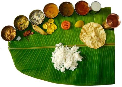 A banana leaf plate…….very green