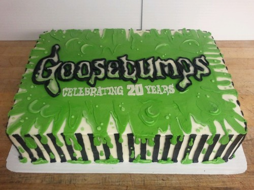 I had the honor of making the cake for Goosebumps 20th anniversary celebration.