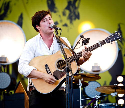 Marcus Mumford of Mumford & Sons performs at Pinkpop on May 28, 2012. Photo courtesy of 3FM.