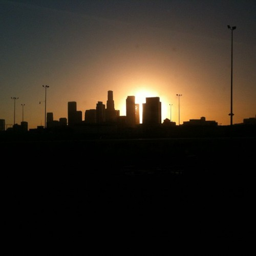 DTLA transit of Venus via train #dtla #transitofvenus #sun (Taken with instagram)