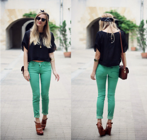 lookbookdotnu:  Adenorah - Green Pants (by Adenorah M)