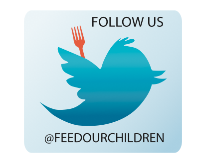 Do you follow us on Twitter yet? If you don't click the Twitter link above and it'll take you right to our Twitter account @Feedourchildren be sure to reblog this to all of your followers for a chance to win some Feed Our Children NOW buttons!