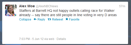 stfuconservatives:  NBC news reporter says people are still lined up to vote at the polls in heavily Democratic areas.
