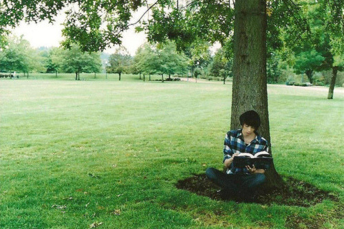 "Severus Snape reading under a tree in the grounds. Taken by Peter Pettigrew. ""By the gods of grease, I think I spot a Snivelly. What are you thinking James? Hex or Jinx? ""I can't mate, I promised Lily."" ""Prongs never in my life have I been more depressed in you."" ""Fine. One jinx. But something that won't hurt him."" ""That's my boy!""  Marauders Era Many roles still open! Join us!"