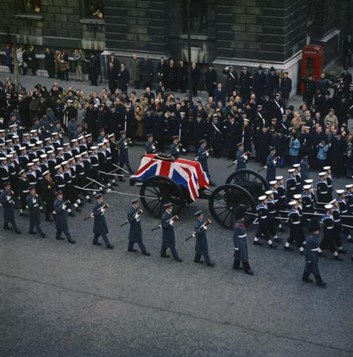 The state funeral of Sir Winston Churchill, London, 30 Jan 1965
