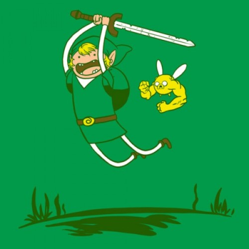Zelda/Adventure Time Mash-Up Tee