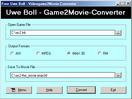 That´s the way how Uwe Boll makes movies: The Free Uwe Boll Game2Movie-Converter